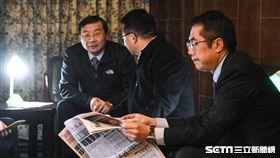 立法院第九屆第五會期立委報到,民進黨立委黃偉哲搶頭香。 圖/記者林敬旻攝