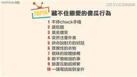 藏不住戀愛的十大犯傻行為。(圖/翻攝自Webtvasia taiwan臉書)