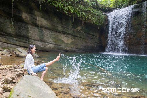 望古瀑布,健行,走春。(圖/新北市觀光旅遊局提供)