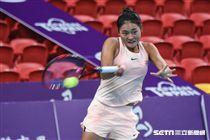 WTA台灣公開賽女單中國王雅繁。 (圖/記者林敬旻攝)