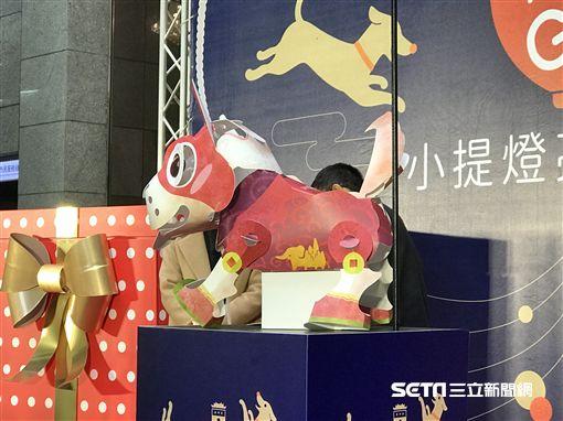 2018台北燈節,狗年,小提燈。(圖/記者簡佑庭攝)
