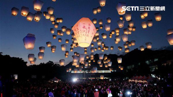 2018平溪天燈節。(圖/新北市觀光旅遊局提供)