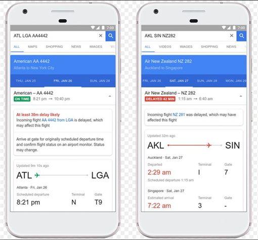 Google Flights,Google,航班,耽擱,剖析,功能,谷歌 圖/翻攝自Google官網