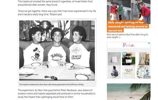 美國,三胞胎,社會學實驗遭拆散(圖/http://metro.co.uk/2018/02/01/tragedy-social-experiment-saw-triplets-separated-birth-7278315/)