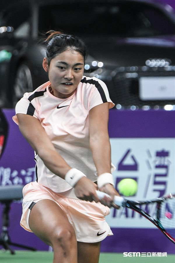 WTA台灣公開賽女子單打中國王雅繁。 圖/記者林敬旻攝