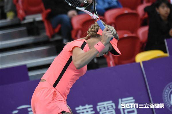 WTA台灣公開賽女子單打加拿大布夏德(Eugenie Bouchard)。 圖/記者林敬旻攝
