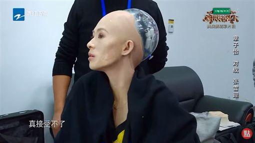 章子怡,張雪迎,演員的誕生,機器人,造型,特殊化妝,道歉(圖/翻攝自微博、YouTube)