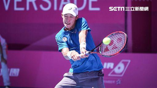 0828世大運網球男子單人中華隊莊吉生 圖/記者林敬旻攝