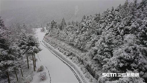 太平山下雪/羅東林管處提供