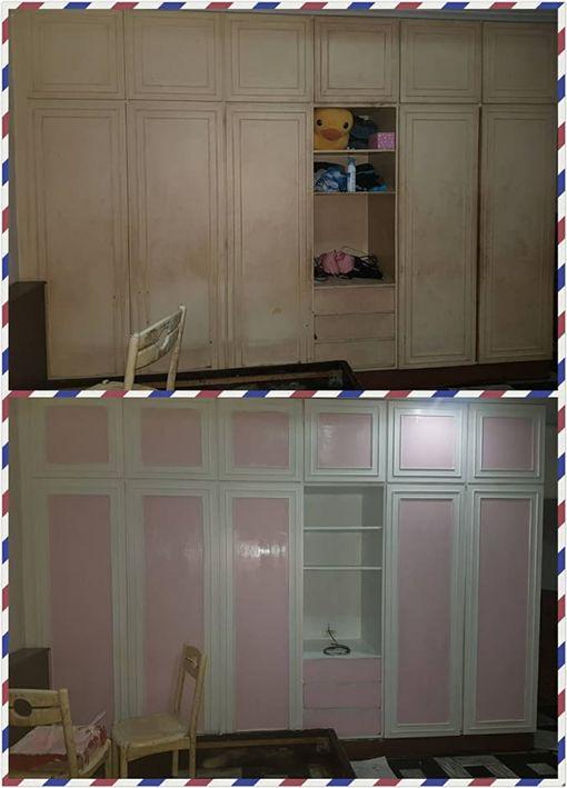 改造,客廳,粉刷,改造,油漆,櫥櫃,家具/爆廢公社