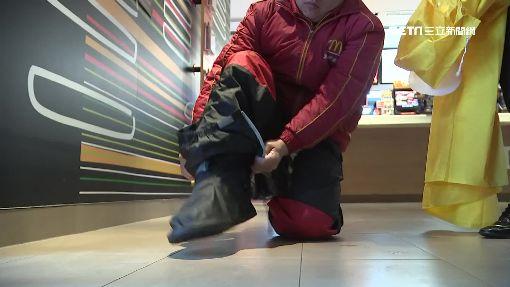 冷商機增2成!外送員「膠底鞋」防滑保暖