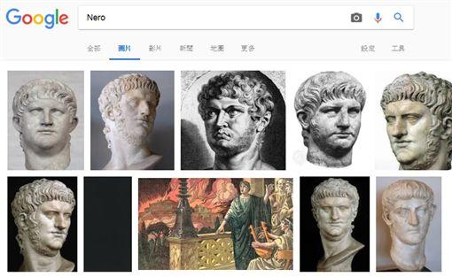 羅馬暴君被日本「大奶正妹化」 歷史老師搜圖秒尷尬搜尋尼祿圖/翻攝自Google