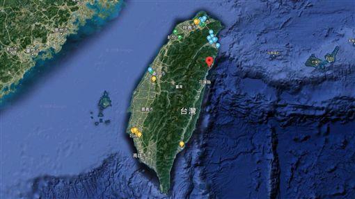 台灣地圖.衛星圖(圖/翻攝自Google Map)