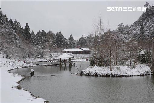 追雪,交管,高山湖泊,力麗馬告生態園區-明池山莊,氣溫,明池山莊,明池湖
