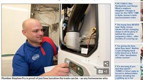 月薪72萬!比英國首相賺的還多 男子真實身分竟是水電工 圖/翻攝自每日郵報 http://www.dailymail.co.uk/news/article-5348557/Plumber-earns-210-000-doesnt-work-weekends.html
