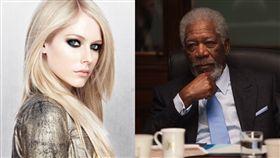 摩根費里曼(Morgan Freeman)/臉書、艾薇兒/推特