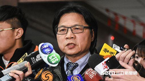 內政部長葉俊榮說明黑鷹直升機失蹤事件。 圖/記者林敬旻攝