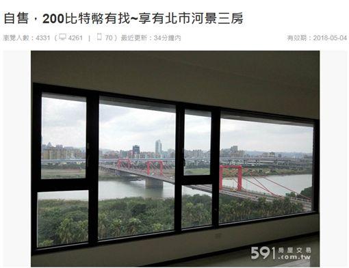比特幣買房,591房屋交易(翻攝自591網站)