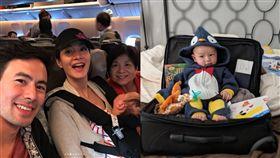 Janet,謝怡芬,兒子,Egan,搭飛機,哭鬧,過夜,育兒(圖/翻攝自Janet IG)
