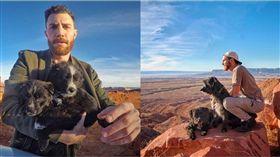 狗,旅行,美國,沙漠,亞利桑納州,夥伴,Jordan Kahana 圖/翻攝自IG