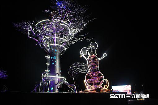 台灣燈會在嘉義,山林鐵道文化燈區。(圖/嘉義縣文化旅行局提供)