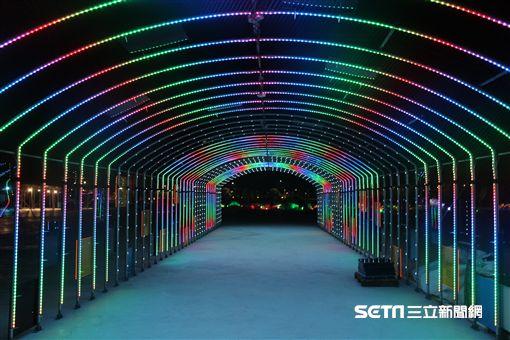 台灣燈會在嘉義,山林鐵道文化燈區。(圖/嘉義縣文化觀光局提供)