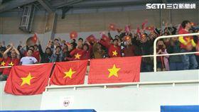 ▲雖然輸球,越南球迷還是看得很開心。(圖/記者林辰彥攝影)
