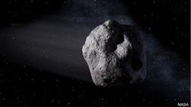 一顆比市區公車還要大的小行星,晚上以安全但很靠近的距離擦過地球,小於地球和月球距離的1/5。(圖/翻攝自BBC)