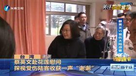 陸客對蔡英文說「總統謝謝」(圖/翻攝自《東南衛視》)