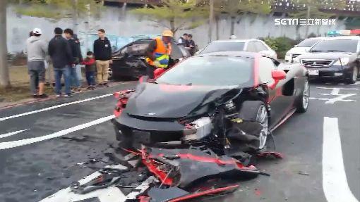 千萬麥拉倫高速過彎 釀6車連環撞