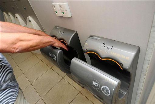 美國,實驗,烘手機,公廁,細菌,洗手,烘乾,衛生 圖/翻攝自太陽報