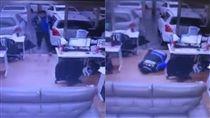 口袋,路滑,走路,辦公室,手插口袋,跌倒,危險,爆笑公社,爆料公社 圖/翻攝自YouTube https://goo.gl/QRSpjQ