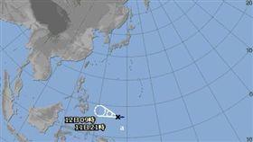 日本氣象廳對此熱帶低壓發布烈風警報,有機會成為今年第二號颱風。(圖/翻攝日本氣象廳)