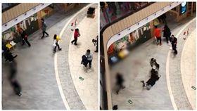 北京商場發生隨機砍人案(圖/翻攝自微博)