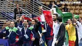 ▲伊朗奪冠後開心慶祝。(圖/記者蔡宜瑾攝影)