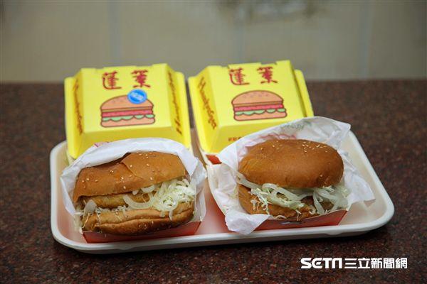 嘉義小吃,美食,蓬萊漢堡。(圖/記者簡佑庭攝)