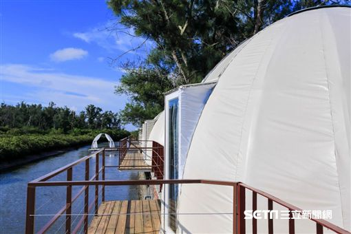 台南IG打卡熱點,星空帳篷。(圖/台南市觀光旅遊局提供)