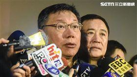 台北市長柯文哲出席台北燈節主燈亮相記者會。 圖/記者林敬旻攝