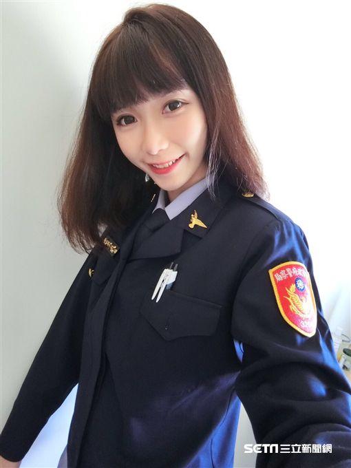 台中南區第三分局勤工所女警楊舒婷 正妹警察(圖/翻攝畫面)