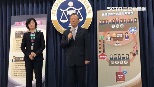 司法院秘書長 呂太郎 講 大法庭軌制。潘千詩攝影