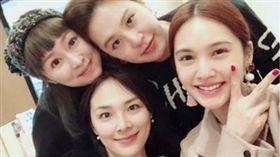4 in Love,楊丞琳,冷嘉琳,黃小柔,張棋惠。(合成圖/翻攝自臉書)