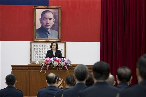 蔡英文總統12日下午出席「內政部警政署署務會報」。(圖/記者盧素梅攝)