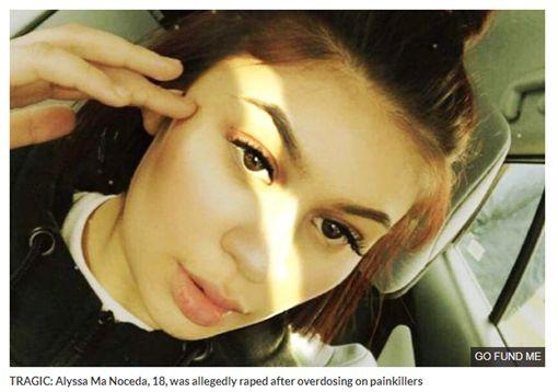 我射時她不知掛了沒」女嗑藥過度遭性侵後死亡、諾西達(Alyssa Ma Noceda)(圖/每日星報)