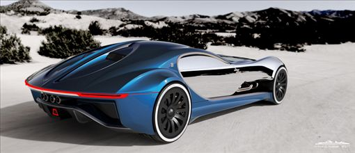 Bugatti Type 57 T概念車。(圖/翻攝nustasdesign網站)