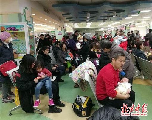 中國大陸,流感,疫情,感冒(圖/翻攝自北京晚報微博)https://www.weibo.com/ttarticle/p/show?id=2309351000184205424109828891