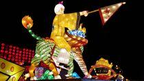 2018年台灣燈會在嘉義,今年宗教燈區很年輕化,除了引進點燈祈福APP,還有Q版姜太公神尊花燈。位於陽明山的姜太公道場以姜太公騎飛天四不像為主題,重現封神榜傳奇故事,還有全台唯一的七星燈廊,要讓民眾賞燈還可以祈福淨化身心,求得一年好運到。