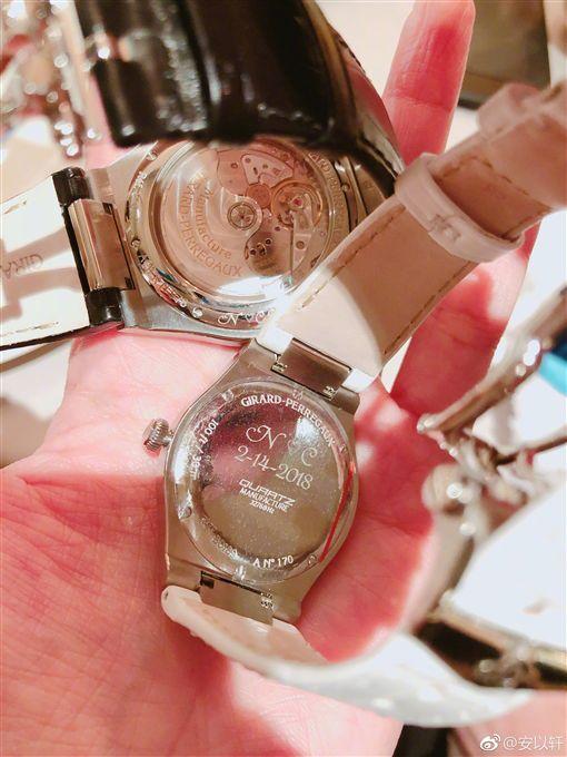 安以軒,陳榮煉,妹妹,禮物,手錶,圖/翻攝自安以軒微博