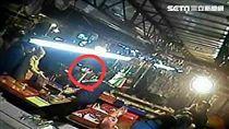 北市永春市場發生多起竊案,警方清查後鎖定蔡男涉有重嫌,派員埋伏守候3日後發現蔡男身影,尾隨他至捷運淡水站後,確認身分後上前逮人(翻攝畫面)