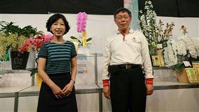 台北市長柯文哲參加2017台南國際蘭展 陳佩琪 北市府提供
