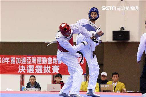 ▲跆拳道好手劉威廷(右)。(圖/記者蔡宜瑾攝影)